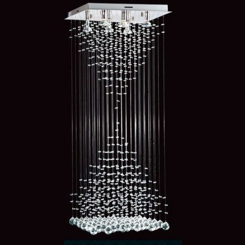 Lampara colgante de techo con cristales y caireles - Cristales para techos ...