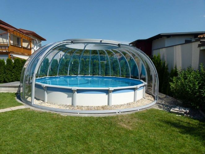 Abri piscine rend piscine hors sol am nagement maison for Piscine researcher