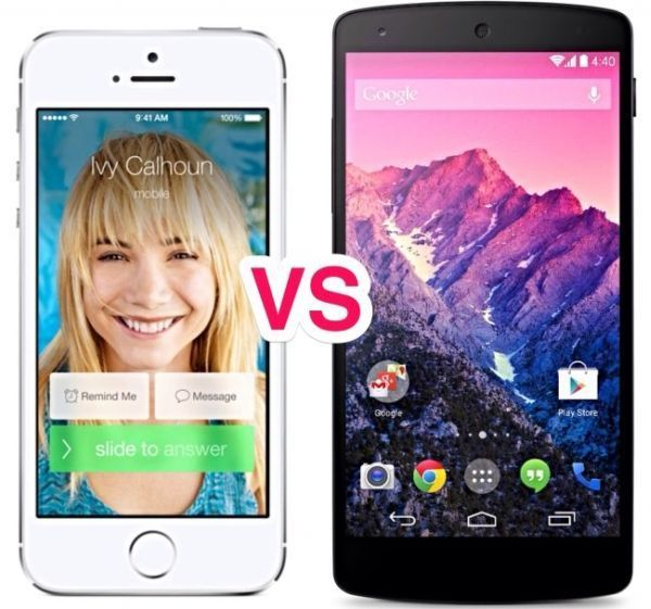 """Android L 5.0/4.5 """"Lollipop"""" vs iOS 8 Update Preview: Changes Compared"""