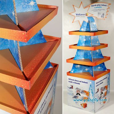 4-Side Cardboard Gift Display Stand,Innovative Display Stand