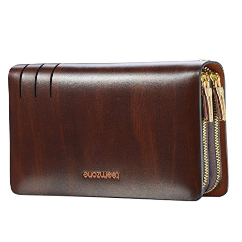 Teemzone Mens Genuine Leather Clutch Bag Handbag Organizer Checkbook Wallet Card Case (S3316)  BUY NOW     $69.89     Remark:    Structure: 2 main section with zipper closure. The first section come with a cash holder, a receipt holder, 11 car ..  http://www.welovefashion.top/2017/03/16/teemzone-mens-genuine-leather-clutch-bag-handbag-organizer-checkbook-wallet-card-case-s3316-2/