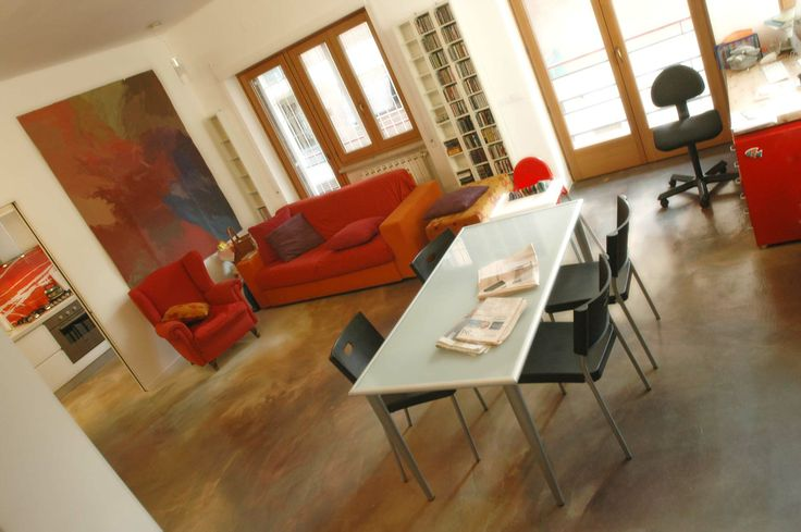 pavimento in resina decorata (decoro: Daniela Argenti arch:: Astrid Carriere)