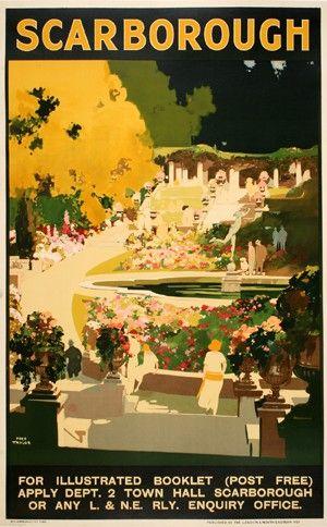 ENGLAND - YORKSHIRE - Scarborough, North Yorkshire - Vintage Travel Poster