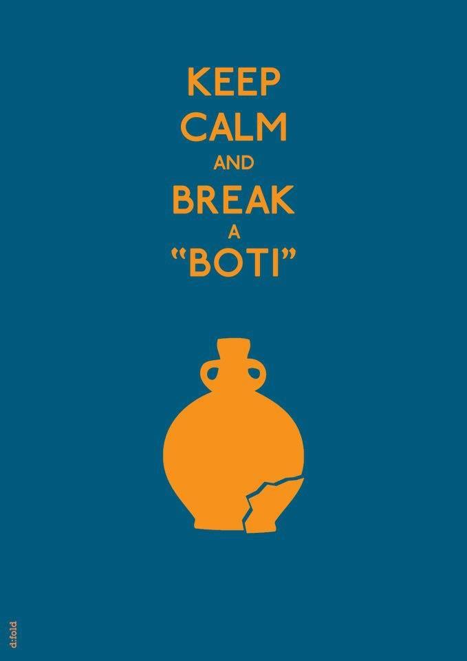keep calm and break a boti easter corfu greece