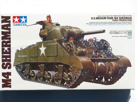 Maquette Tamiya 35190 U.S. Medium Tank M4 Sherman