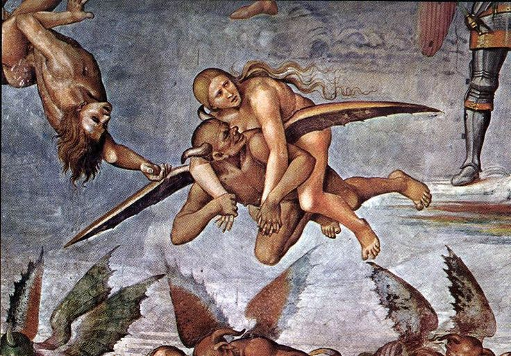 Luca Signorelli, The damned (detail), Chapel of San Brizio, Orvieto Cathedral