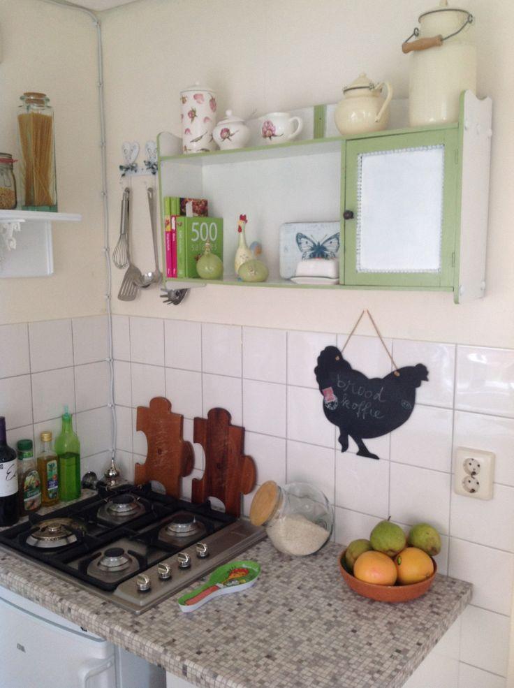 Tabakskastje van mijn opa groen wit in mijn kleine keuken idee n voor het huis pinterest van - Kleine keuken amerikaanse keuken ...
