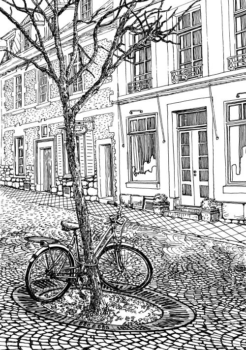 EXCLUSIVE gift with this PAGE!   Download and color this amazing coloring page related to this fantastic city in Germany!