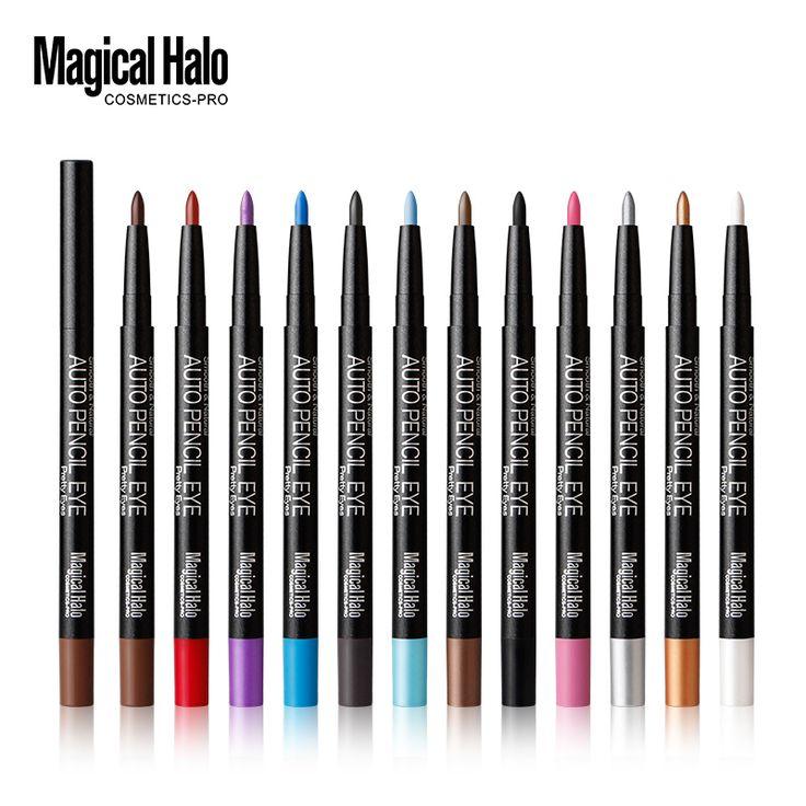 12 stks/partij magical halo automatische oogschaduw potlood matte giltter oogschaduw pen waterdicht glad sombra cosmetische eye lijn make