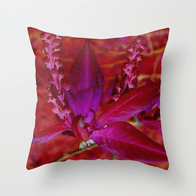 strong leaf Throw Pillow by Platinepearl - $20.00