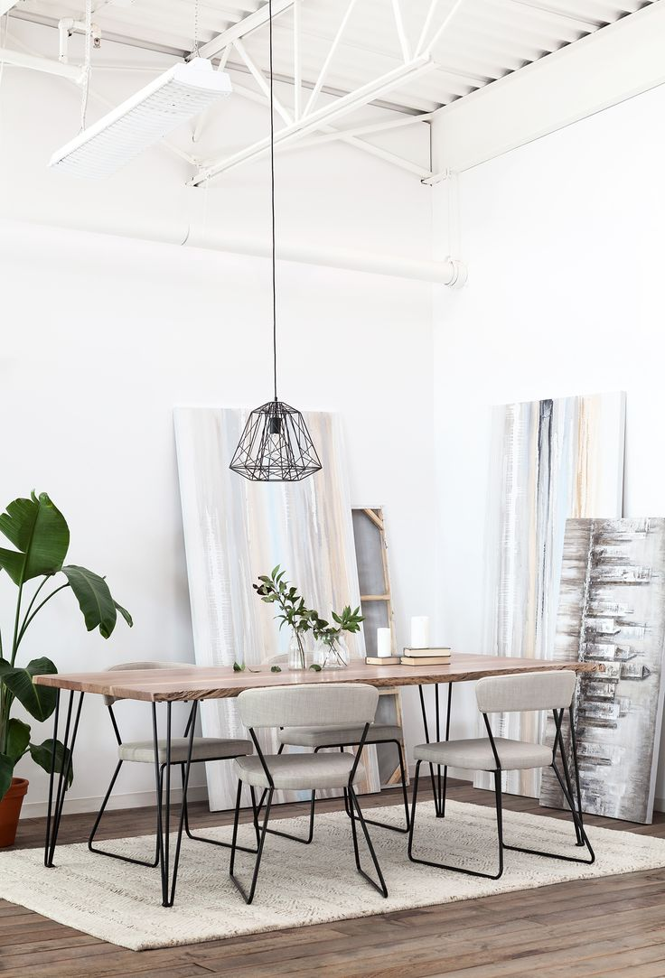 Industrial: An Instant Classic, The Reno Dining Table Is Striking Thanks To  Itu0027s Hairpin