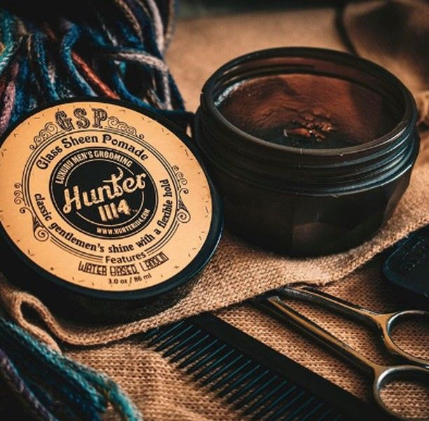 Hunter 1114 Gsp Glass Sheen Pomade Smooth Control With Optimal Shine Our Versatile Water Based Formula Rins Glass Classic Sheen Cool Hairstyles