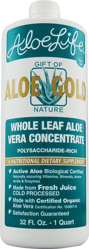 Aloe Life Whole Leaf Aloe Vera Juice Concentrate Aloe Gold (Nature's Pantry)