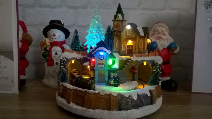My wee moving train around the village so cute at Christmas! Out of b&m bargains