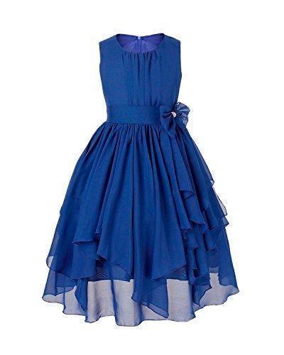 Comprar ofetas online de iEFiEL Vestido Elegante de Princesa de Gasa para Niña Azul Oscuro 12 Años online y ,iEFiEL,Niña,Ropa,Vestidos