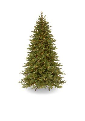 National Tree Company 7.5-Ft. Feel Real Yukon Fir Tree With Clear Lights - Green - One Size