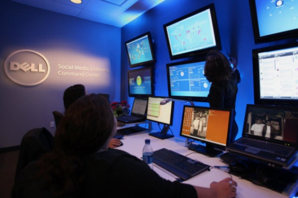 Dell's Social Media Command Centre. I've been here. It is VERY COOL!