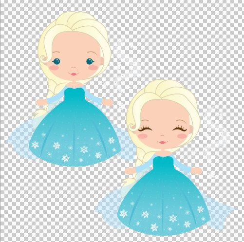 Frozen Numbers Clipart Elsa Character and Background by araqua