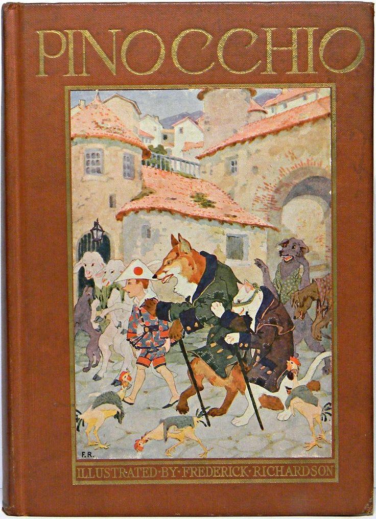 1924 Puppet PINOCCHIO Book RARE Antique Marionette Doll ...