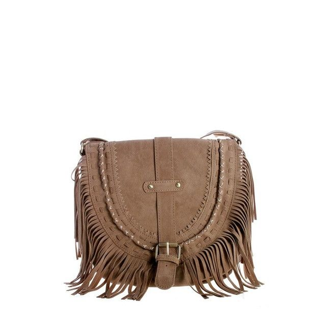 VEGAN SUEDE FRINGE CROSS BODY FLAP BAG - Women's Vintage Bohemian