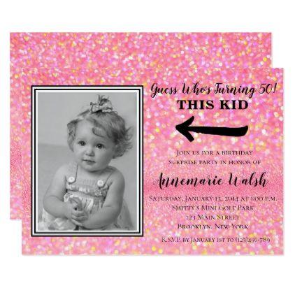 Old Photo Surprise Birthday Party Invitations - invitations custom unique diy personalize occasions