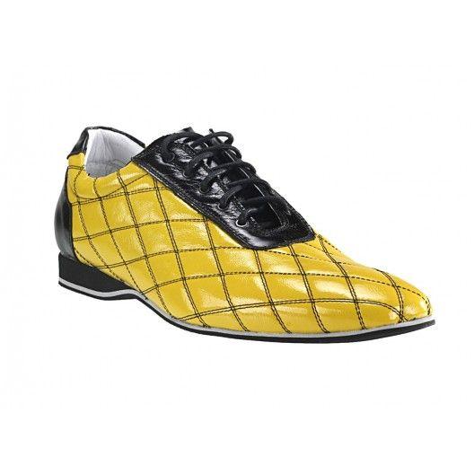 Pánske kožené športové topánky žlté - fashionday.eu