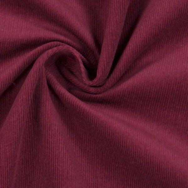 Velluto a costine - Cotone - rosso Bordeaux. Uso: Giacche, Blazer, Pantaloni, Gonne, Abiti Cuscini