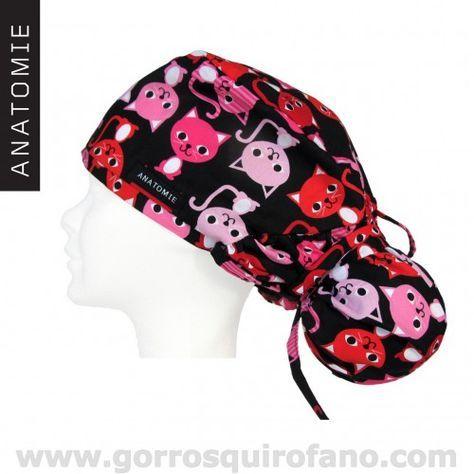Gorros Quirofano Gatos Divertidos ANA1050 http://www.gorrosquirofano.com/producto/gorros-de-quirofano-gatos-divertidos/