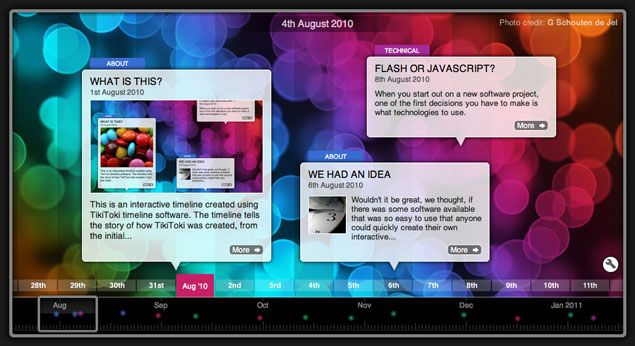 Tiki-Toki is web-based software for creating beautiful interactive timelines that you can share on the internet