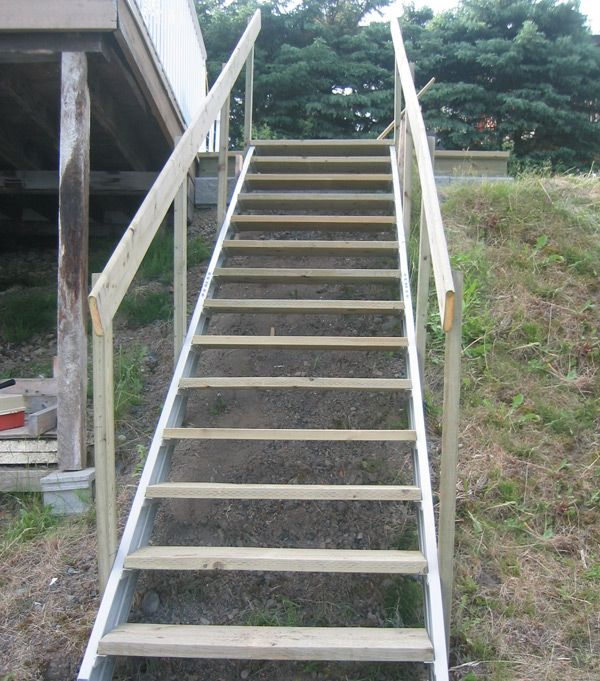 Best Exterior Stair Stringers By Fast Stairs Com Exterior 400 x 300