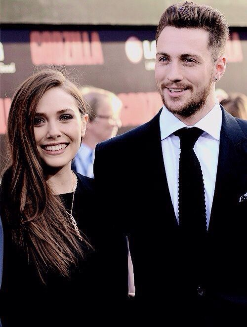Elizabeth Olsen and Aaron Taylor-Johnson// she's so pretty. And dang he's hot, very kickass *wink wink*