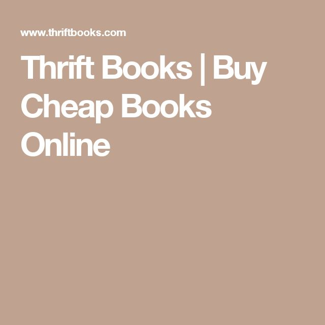 Thrift Books | Buy Cheap Books Online