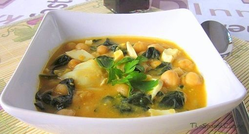 Spanish Chickpea Stew with Cod - Yummy and nutritive garbanzo stew ...