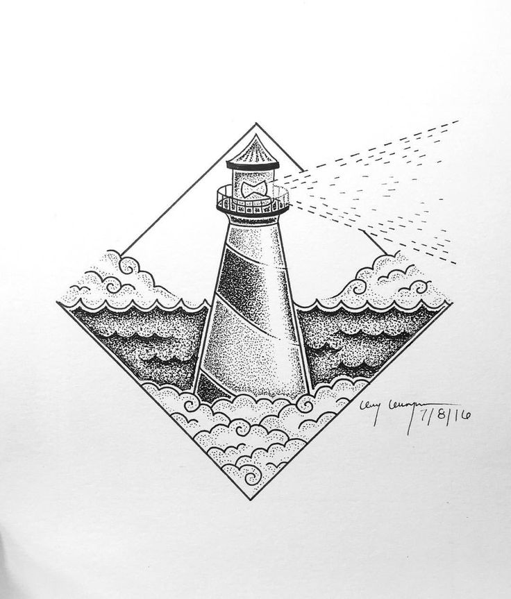 Best 25 lighthouse art ideas on pinterest lighthouse for Cool easy pen drawings