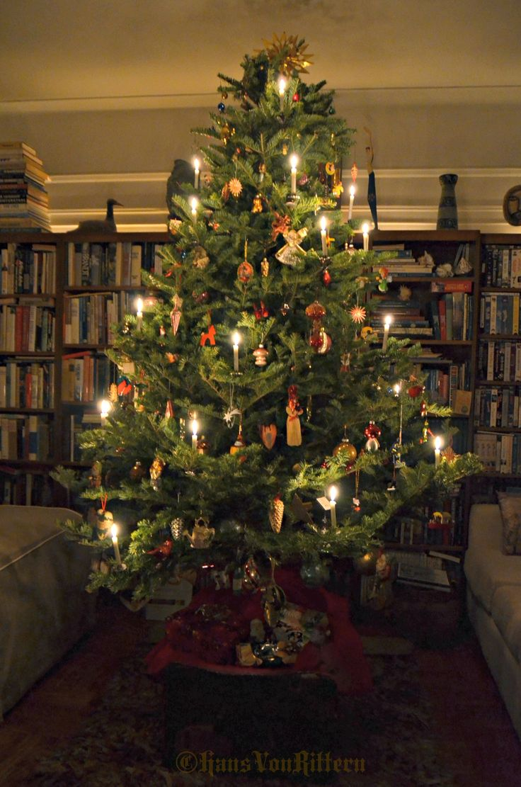 von rittern traditional german candle lit christmas tree - German Christmas Tree