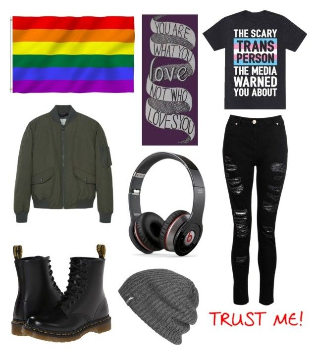 """""""So I'm a boy."""" by gabethetransboy on Polyvore featuring Dr. Martens, MANGO MAN, Outdoor Research and Beats by Dr. Dre"""