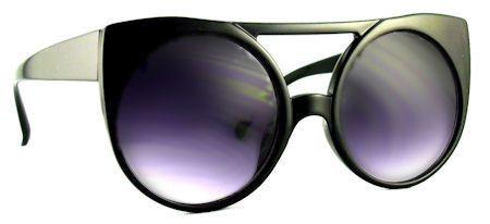 Enigma Retro Cat Eye Sunglasses - 169 black