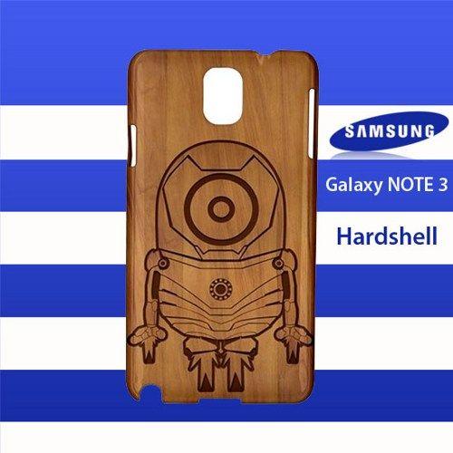 Minion Iron Man Wood Logo Samsung Galaxy Note 3