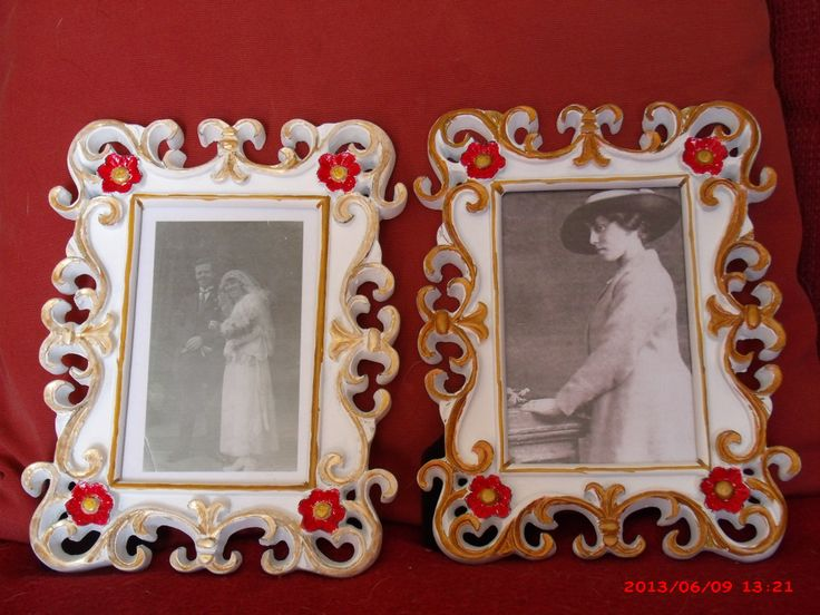 From plain white frames to 'tarted' up frames - using permanent marker & nail varnish