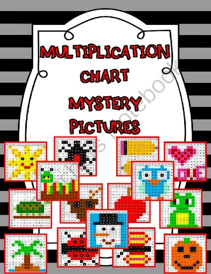 Mystery Pictures on a Multiplication Chart from Mrs Ps ideas on TeachersNotebook.com -  (51 pages)  - Mystery Pictures on a Multiplication Chart