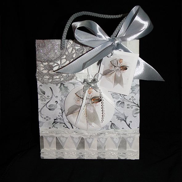Luxury Christmas Gift Bag - Antique Lace & Fairy,