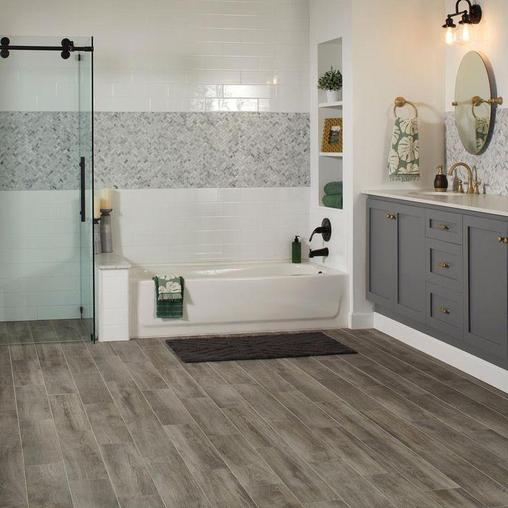 Lifeproof Shadow Wood Porcelain Floor And