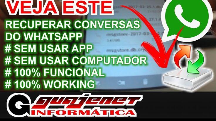 Como recuperar conversas do Whatsapp - Sem Apps e sem PC (100% WORKING)