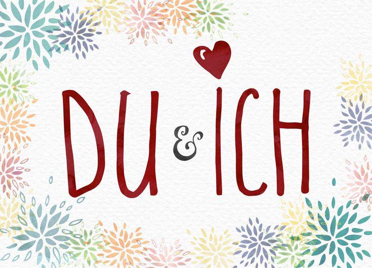 DU & ICH | Postkarte in DIN A6 (14,8 x 10,5 cm). Gedruckt
