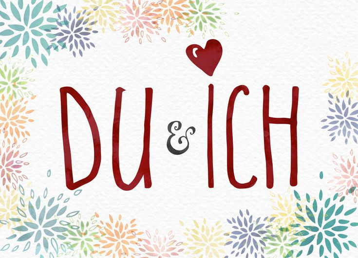 DU & ICH   Postkarte in DIN A6 (14,8 x 10,5 cm). Gedruckt auf hochwertigem Recyclingpapier. 10 % Gutschein: ke4pinterest