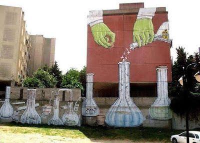 Wonderful street art in Sardinia