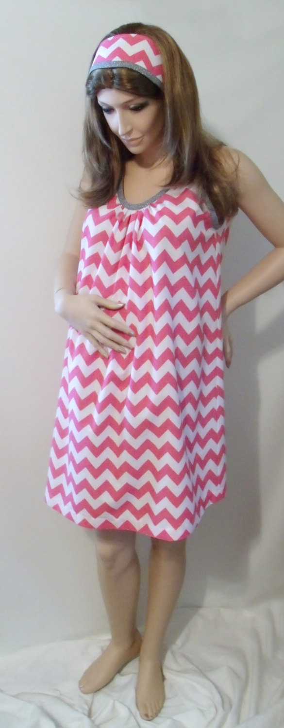 Chevron Maternity Hospital Gown delivery nursing by MilkThreads, $63.00