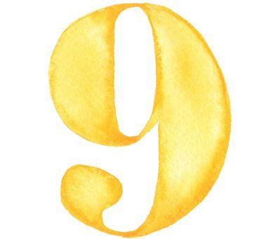 Combien ça va ? #9/10 soleil watercolor numbers / resistenza.