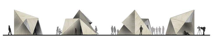 Konishi Gaffney Architects Unveils Their Winning Pavilion for the Pop-Up Cities Expo in Edinburgh,Elevations. Image Courtesy of Konishi Gaffney Architects
