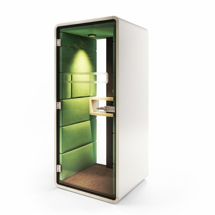 Acoustic booth to make or take a call
